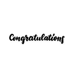 congratulations handwritten lettering vector image