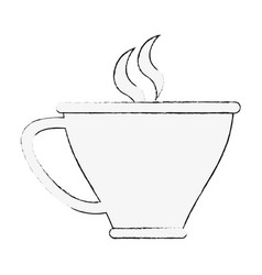 delicious tea cup vector image