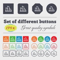 Diagram icon sign Big set of colorful diverse vector