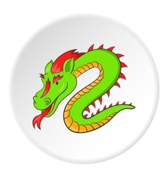 Dragon icon cartoon style vector image