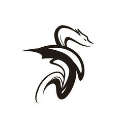 Dragon tattoo symbol of vector