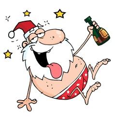 Drunk Santa vector image