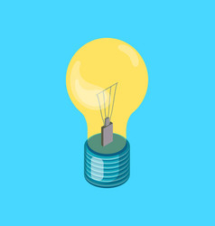electric light bulb realistic icon new idea vector image