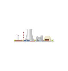 Energy power plant nuclear turbine factory vector