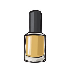 Fashioable gold nail varnish isolated vector