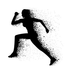 graphic women running vector image