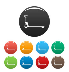 Hand lift icons set color vector