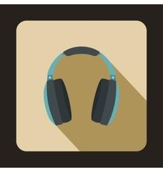 Headphones icon in flat style vector