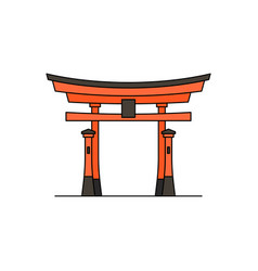 Japanese torii gate icon vector