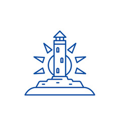 lighthouse line icon concept lighthouse flat vector image