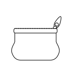 line cute purse with zipper to save cash money vector image