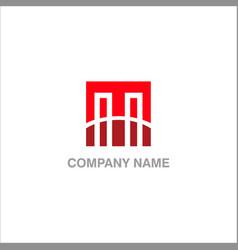 M initial business logo vector