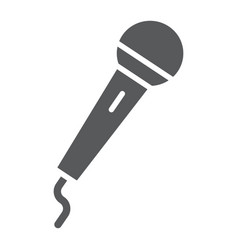 microphone glyph icon electronic and device vector image