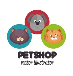 pet shop veterinary design graphic vector image