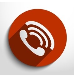 phone handset icon background vector image