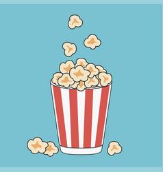 Popcorn in paper cup vector