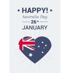 Print on holiday Australia Day vector image
