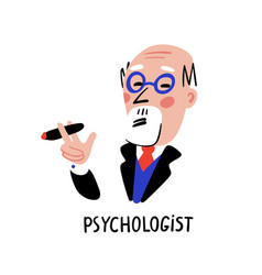 psychology psychologist man character with vector image