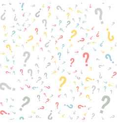 Quiz seamless pattern question marks doubt faq vector