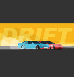 race car drifting flat vector image