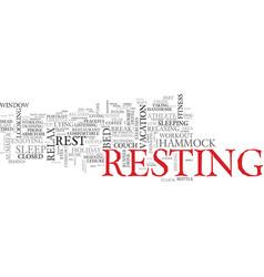 Rest word cloud concept vector