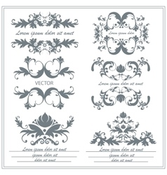 Set of decorative floral ornaments in victorian vector image