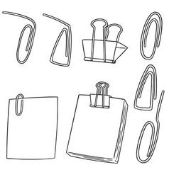 set of paper clip vector image