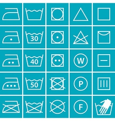 Set of washing symbols vector image