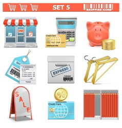 Shopping Icons Set 5 vector