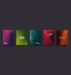 Simple modern covers template design set of vector