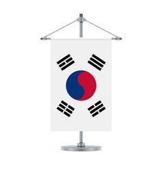 south korean flag on the metallic cross pole vector image