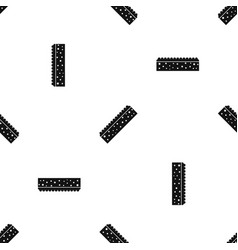 Sponge for cleaning pattern seamless black vector
