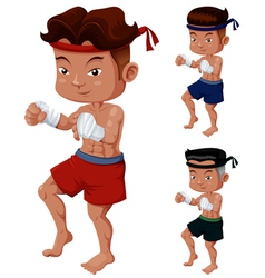 Thai boxing vector