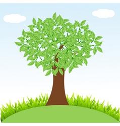 tree on landscape vector image