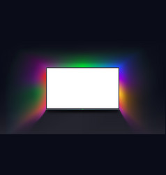 Tv with white screen vector
