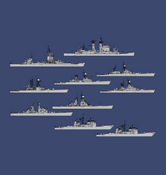 us navy guided missile cruisers vector image