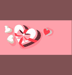 valentines day chocolate box background vector image