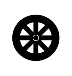 wheel icon black sign on vector image