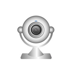 white computer camera icon vector image