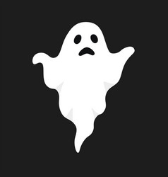 White ghost halloween vector