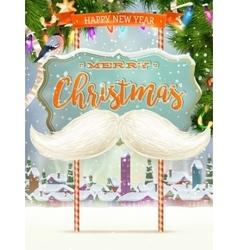 White Santa s moustache EPS 10 vector