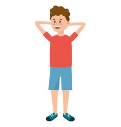Young boy cartoon vector