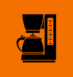 kitchen coffee machine icon vector image