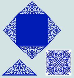 laser cut wedding invitation vector image vector image