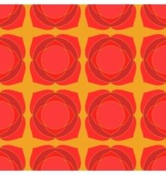 Red lotus geometric seamless pattern vector