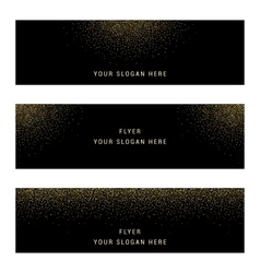 Set Gold Glitter Card and Background vector image