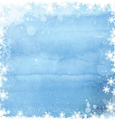 watercolor christmas snowflake background 0211 vector image vector image