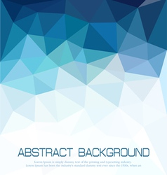 abstract blue background with mosaic for business vector image