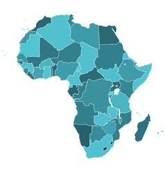 Africa silhouette map vector