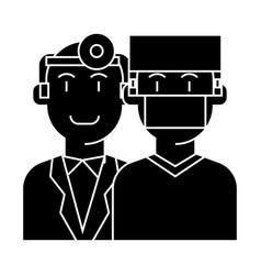 doctors - health care - medicine insurance icon vector image